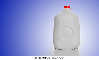 Gallon Milk Carton - 1 Gallon of Milk in a milk carton on a...
