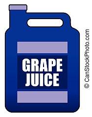 Gallon of Grape Juice - A full plastic gallon jug of grape...