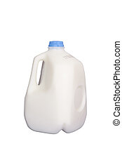 Gallon of Milk - Gallon of milk, isolated w/clipping path