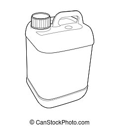 image of gallon plastic vector isolated on background