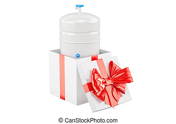 Gallon storage tank from reverse osmosis system inside gift...