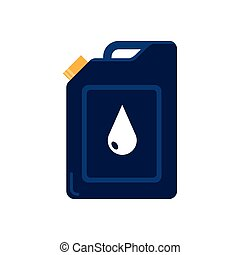 gallon tank and drop of oil price icon