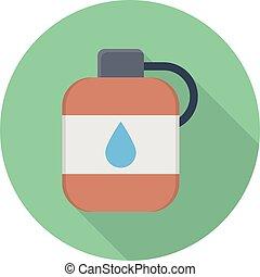 gallon vector colour flat icon