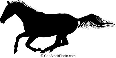 horse - galloping horse silhouette