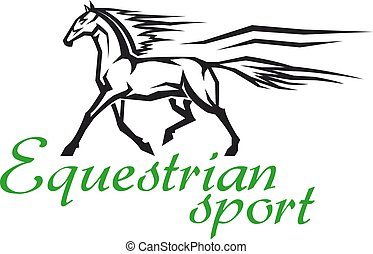 Galloping horse symbol for horse racing design