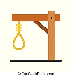 gallows, Halloween related vector icon, flat design