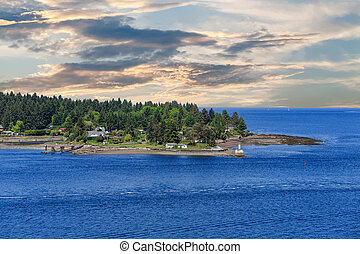 Gallows Point Lighthouse at Sunset