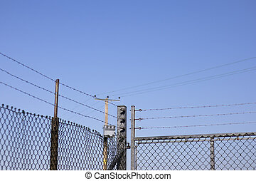 Galvanised barbed wire mesh fence - Hot dipped galvanised ...