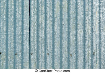 galvanised iron - large sheet of galvanised or corrugated...