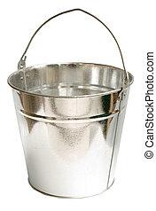 Galvanized Steel Bucket (Inc Clipping Path) - Galvanized...