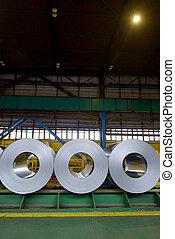 galvanized steel coil in warehouse