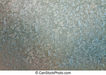 Galvanized steel sheet with abstract shapes on the surface
