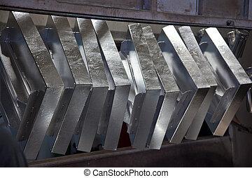galvanizing, den, stål