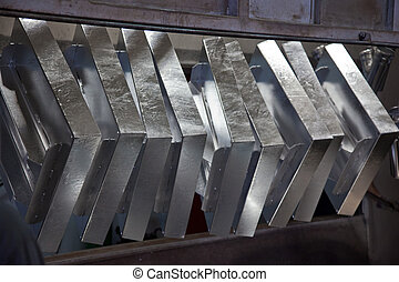 Galvanizing the steel - Hot dip galvanizing process of steel...