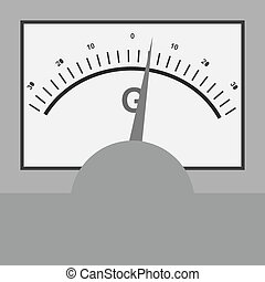 Galvanometer, science, electric icon vector image. Can also...