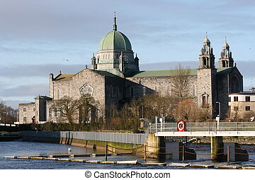 galway, cattedrale, in, irlanda