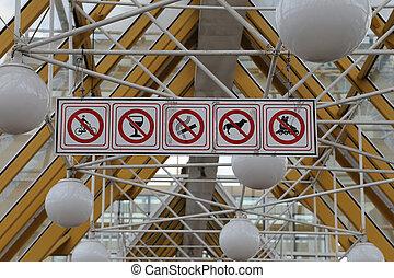 gama, tábua, proibição, sinais