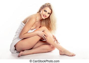 gambe, donna