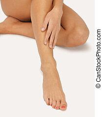 gambe, femmina porge