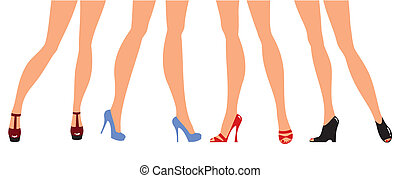 gambe, progettista, scarpe, femmina