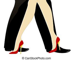 gambe, womanish, maschile