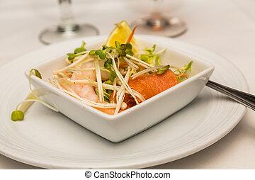 gamberetto, salmone, antipasto