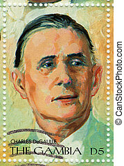 GAMBIA - CIRCA 2000 : Stamp printed in Gambia shows Charles...