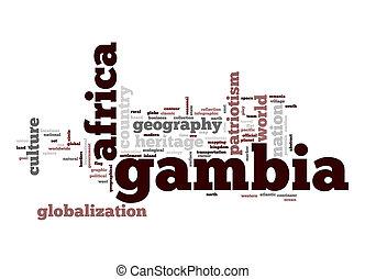 Gambia word cloud