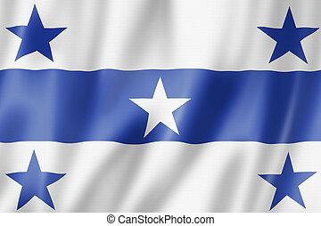 Gambier Islands flag, French Polynesia