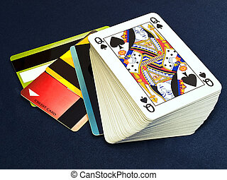 Gamble on the credit - Conceptual image about on line...