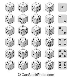 Gambling 3D dice set