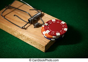 Gambling addiction concept