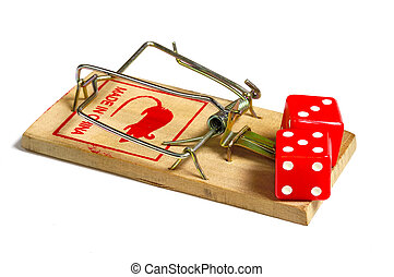 Gambling Addiction - Dice on a Mousetrap
