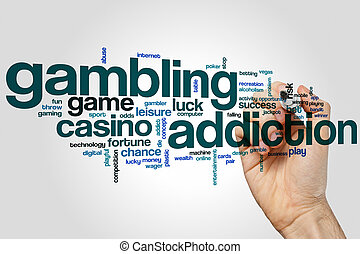 Gambling addiction word cloud concept