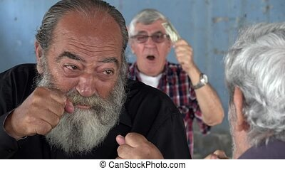 Gambling As Old Men Fight