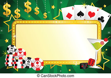 Gambling background - A vector illustration of gambling ...