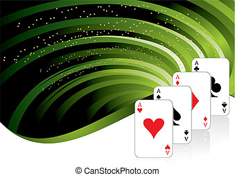 gambling background with casino elements, vector...