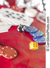 Gambling Background Dice