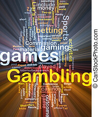 Gambling betting background concept glowing - Background...