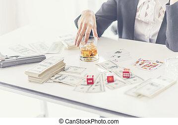 Gambling business concept