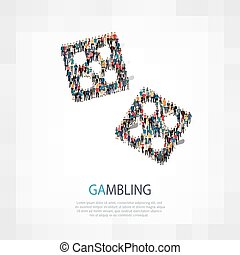 gambling casino people vector