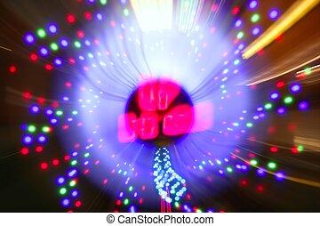 Gambling casino zoom blurred lights