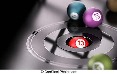 Gambling, Chance and Number 13 - Gambling concept, chance...