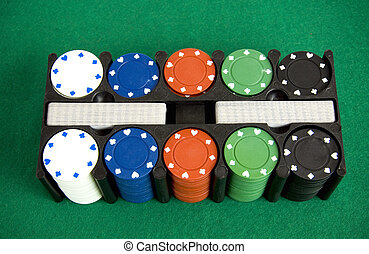 Gambling chips box