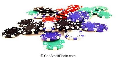 stack of gambling chips