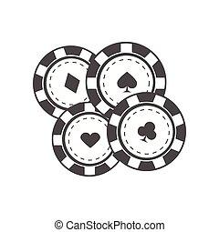 Gambling Chips Vector Illustration In Flat Design