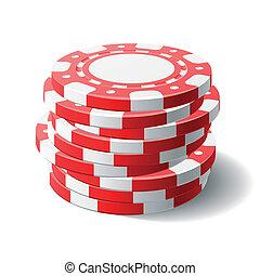 Gambling chips - Vector illustration of gambling chips
