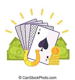 Gambling Concept Vector Flat style Illustration.
