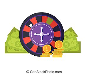 Gambling Concept Vector Illustration Flat Design.