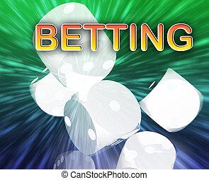Gambling dice betting background